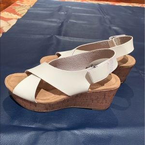 CL by Laundry Cork Wedge Sandals  size 9M